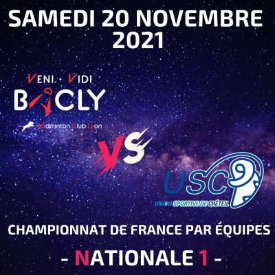 3ème journée du Championnat de France par équipe le samedi 20 novembre 2021 de 16h00 à 19h00