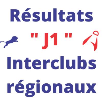 Résultats de la 1ère journée des interclubs régionaux